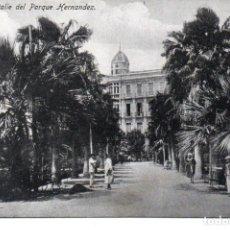 Postales: POSTAL DE MELILLA - DETALLE DEL PARQUE HERNANDEZ. Lote 178601221
