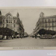Postales: MELILLA-AVENIDA DE LOS HEROES DEL ALCAZAR DE TOLEDO-AUTOCAR-ROISIN-VER REVERSO-(62.943). Lote 178975161