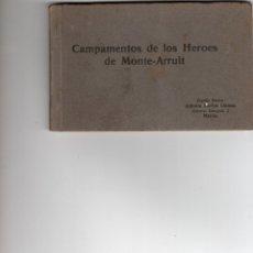 Postais: CAMPAMENTOS DE LOS HEROES DEL MONTE ARRUIT. ALBUM DE 12 POSTALES. COMPLETO. Lote 182698795