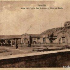 Postales: MELILLA VISTA DEL FUERTE SAN LORENZO Y GOTA DE ZECHE. Lote 182714871