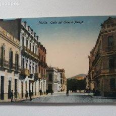 Postales: POSTAL MELILLA. CALLE GENERAL PAREJA. ED BOIX HERMANOS. AÑOS 40. CIRCULADA.. Lote 183285067