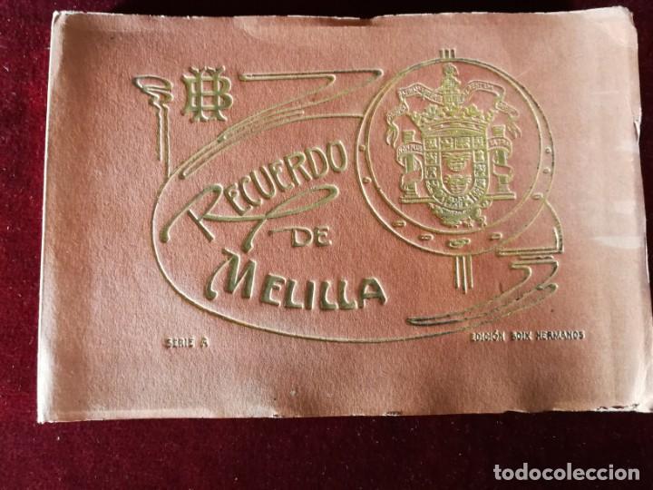 POSTALES RECUERDO DE MELILLA SERIE A BOIX HERMANOS, SERIE DESPLEGABLE COMPLETO 22 IMAGENES AÑOS 20 (Postales - España - Melilla Antigua (hasta 1939))