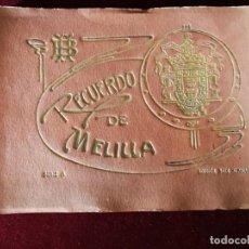 Postales: POSTALES RECUERDO DE MELILLA SERIE A BOIX HERMANOS, SERIE DESPLEGABLE COMPLETO 22 IMAGENES AÑOS 20. Lote 183689926
