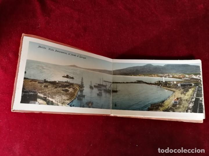Postales: POSTALES RECUERDO DE MELILLA SERIE A Boix Hermanos, Serie desplegable completo 22 Imagenes años 20 - Foto 2 - 183689926
