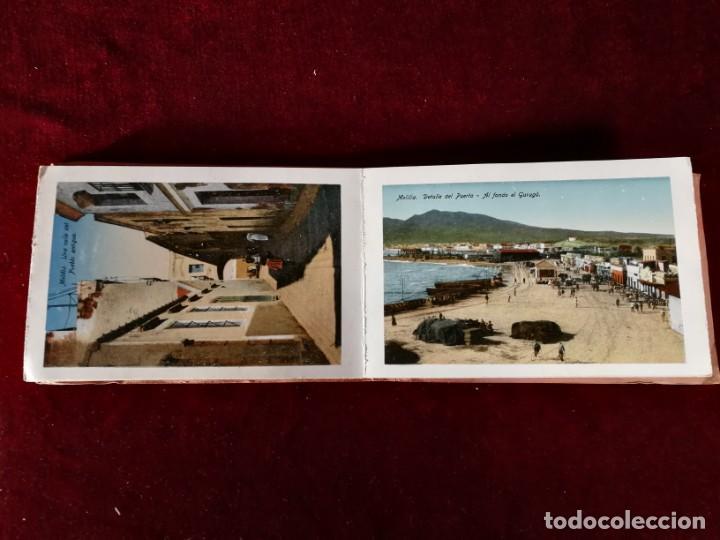 Postales: POSTALES RECUERDO DE MELILLA SERIE A Boix Hermanos, Serie desplegable completo 22 Imagenes años 20 - Foto 6 - 183689926