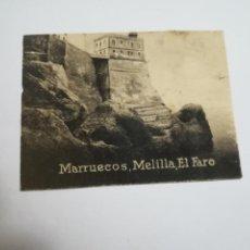 Cartes Postales: POSTAL ORIGINAL. 6.5 X 4.6CM. DÉCADA 30. Nº 1456. MELILLA. EL FARO. Lote 214326420