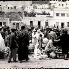 Postales: MELILLA POSTAL FOTOGRÁFICA MERCADO 1960. Lote 184054195