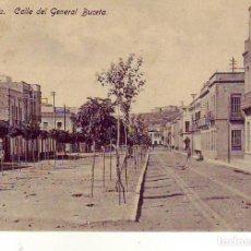 Postales: MELILLA CALLE DEL GENERAL BUCETA. Lote 185942790