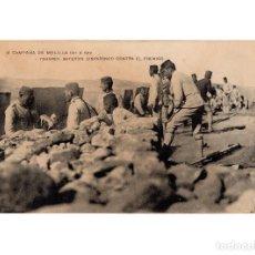 Postales: MELILLA.- CAMPAÑA DE MELILLA. 1911-1912.ISHAFEN BATERÍAS DISPARANDO CONTRA EL ENEMIGO.. Lote 189680806