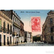 Postales: MELILLA.- CALLE DEL GENERAL PAREJA.. Lote 189682408
