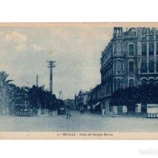 Postales: MELILLA.- CALLE DEL GENERAL MARINA.. Lote 189779607