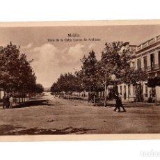 Postales: MELILLA.- VISTA DE LA CALLE CARLOS ARELLANO.. Lote 189779767