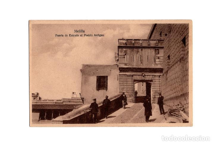 MELILLA.- PUERTA DE ENTRADA AL PUEBLO ANTIGUO. (Postales - España - Melilla Antigua (hasta 1939))