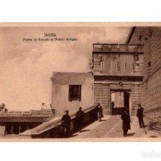 Postales: MELILLA.- PUERTA DE ENTRADA AL PUEBLO ANTIGUO.. Lote 189779957