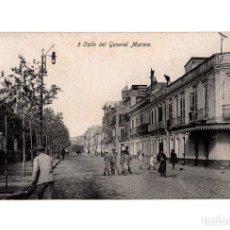 Postales: MELILLA.- CALLE DEL GENERAL MARINA.. Lote 189781306