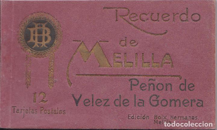 PEÑON DE VELEZ DE LA GOMERA (MELILLA) - TACO DE 12 POSTALES (Postales - España - Melilla Antigua (hasta 1939))