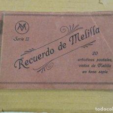 Postales: BLOCK DE 20 POSTALES. RECUERDO DE MELILLA. SERIE II. Lote 190715027