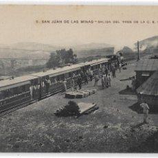 Postales: MELILLA - SAN JUAN DE LAS MINAS - SALIDA DEL TREN - FERROCARRIL - P29591. Lote 192988617