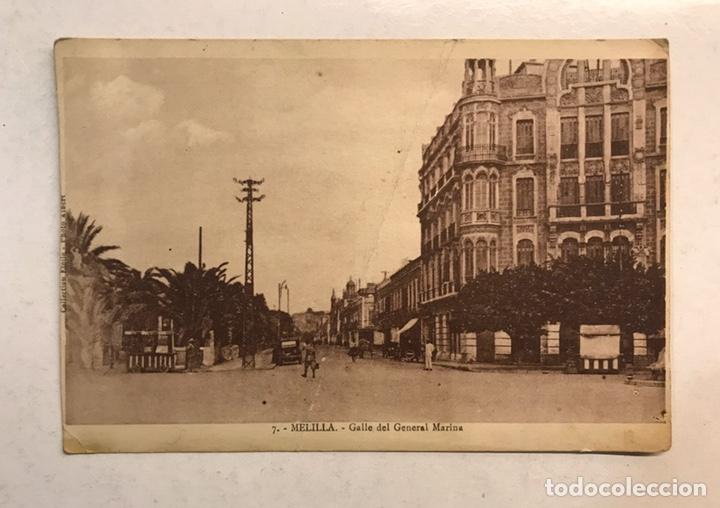 MELILLA. POSTAL ANIMADA NO.7, CALLE DEL GENERAL MARINA. FOTO ALBERT (H.1920?) S/C. (Postales - España - Melilla Antigua (hasta 1939))