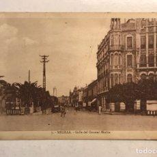 Postales: MELILLA. POSTAL ANIMADA NO.7, CALLE DEL GENERAL MARINA. FOTO ALBERT (H.1920?) S/C.. Lote 193250155