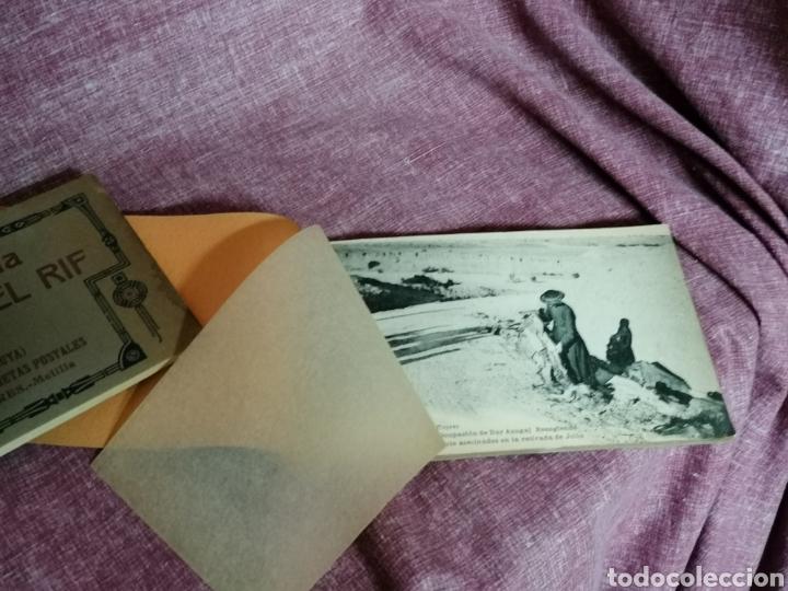 Postales: BLOCK COMPLETO DE 12 POSTALES RECUERDO DE LA CAMPAÑA DEL RIF DAR AZUGAJ 1921 - Foto 4 - 193957895
