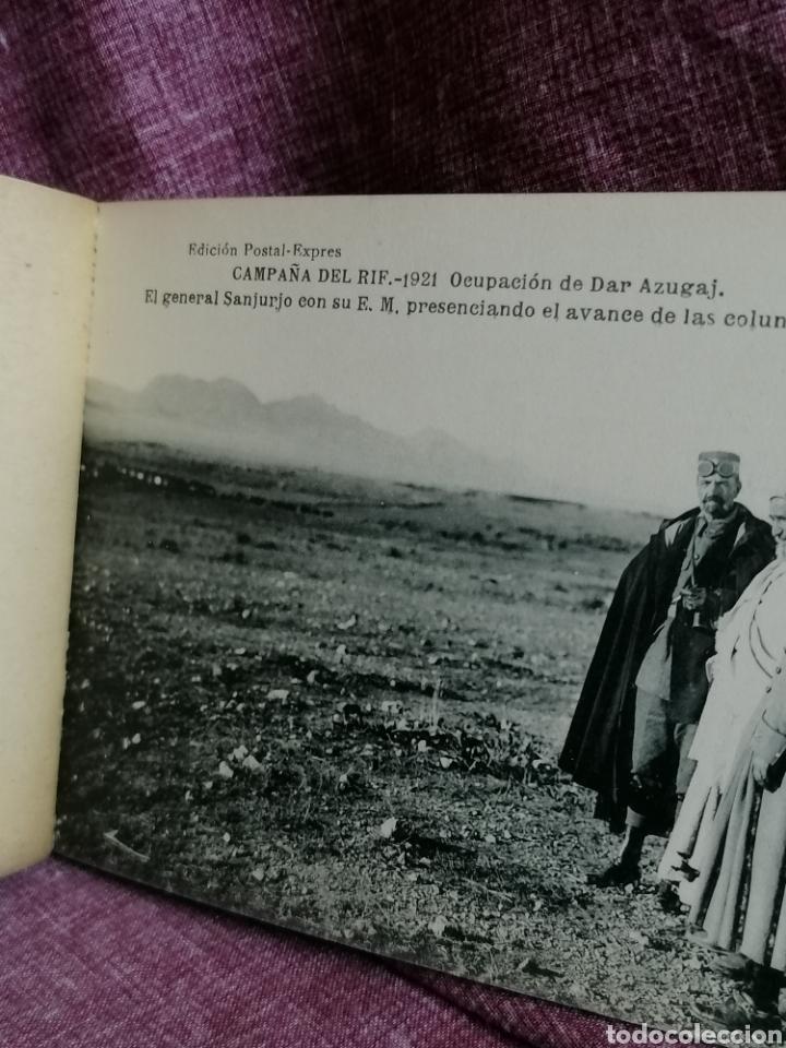 Postales: BLOCK COMPLETO DE 12 POSTALES RECUERDO DE LA CAMPAÑA DEL RIF DAR AZUGAJ 1921 - Foto 6 - 193957895