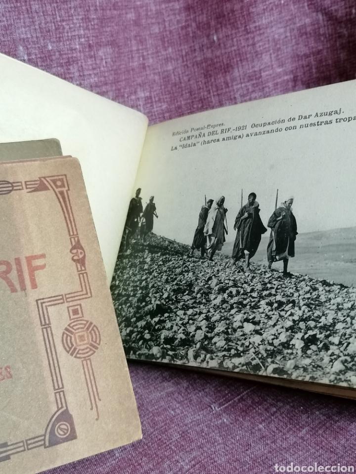 Postales: BLOCK COMPLETO DE 12 POSTALES RECUERDO DE LA CAMPAÑA DEL RIF DAR AZUGAJ 1921 - Foto 8 - 193957895