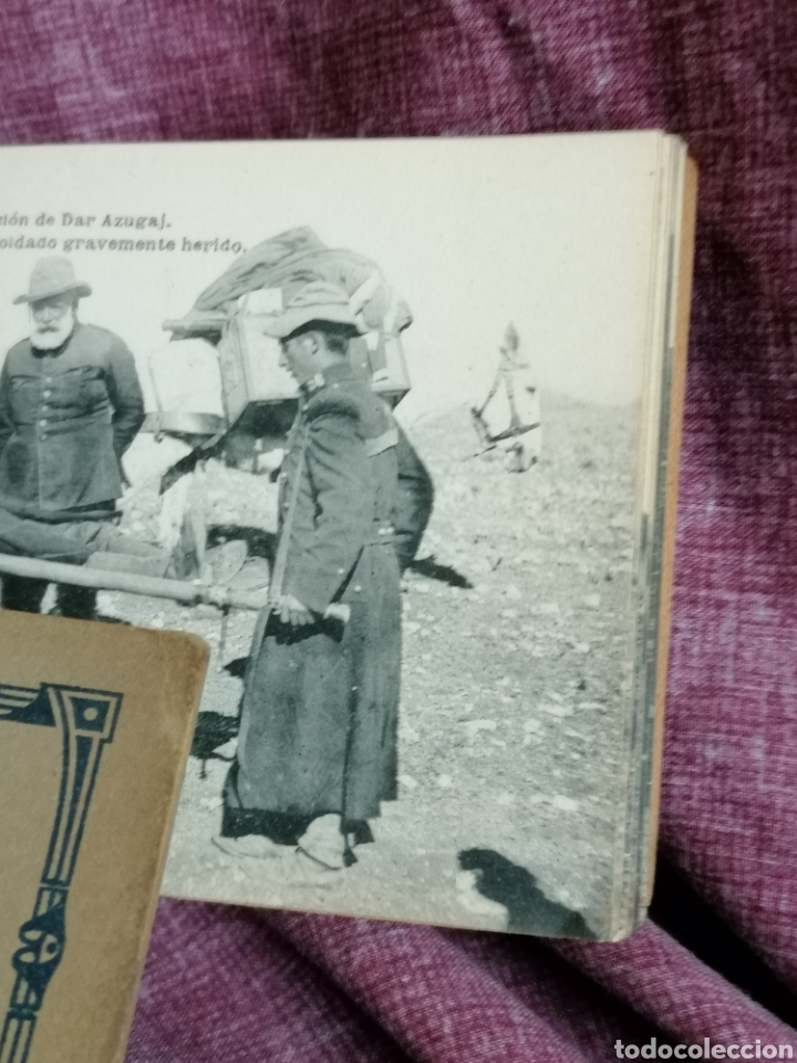 Postales: BLOCK COMPLETO DE 12 POSTALES RECUERDO DE LA CAMPAÑA DEL RIF DAR AZUGAJ 1921 - Foto 11 - 193957895