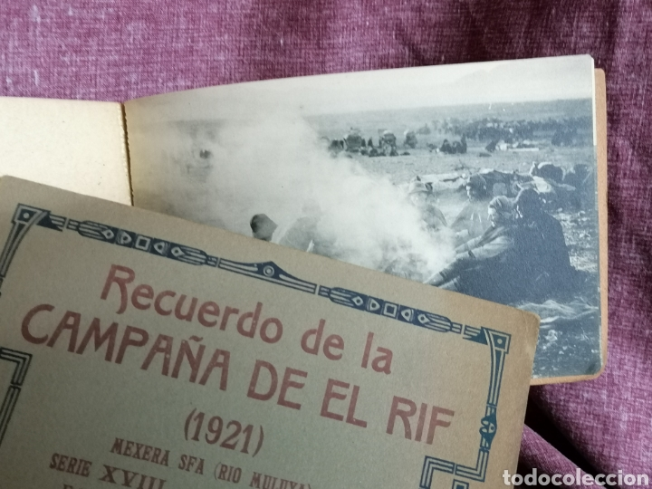 Postales: BLOCK COMPLETO DE 12 POSTALES RECUERDO DE LA CAMPAÑA DEL RIF DAR AZUGAJ 1921 - Foto 15 - 193957895