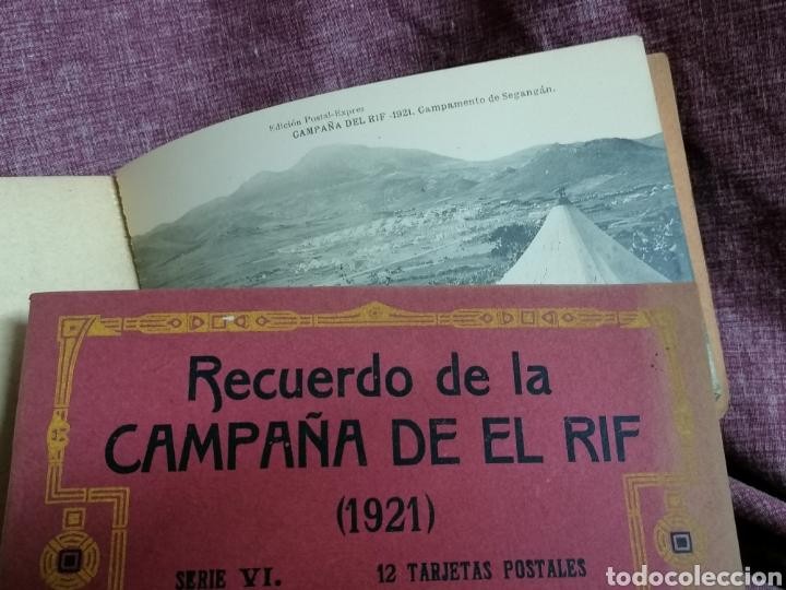 Postales: BLOCK COMPLETO DE 12 POSTALES RECUERDO DE LA CAMPAÑA DEL RIF DAR AZUGAJ 1921 - Foto 16 - 193957895