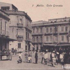 Postales: MELILLA - CALLE GRANADA. Lote 194260031