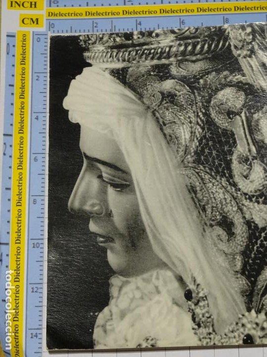 POSTAL RELIGIOSA SEMANA SANTA. AÑO 1962. MÁLAGA VIRGEN DE LOS DOLORES COFRADÍA EXPIRACIÓN. 2662 (Postales - España - Melilla Antigua (hasta 1939))