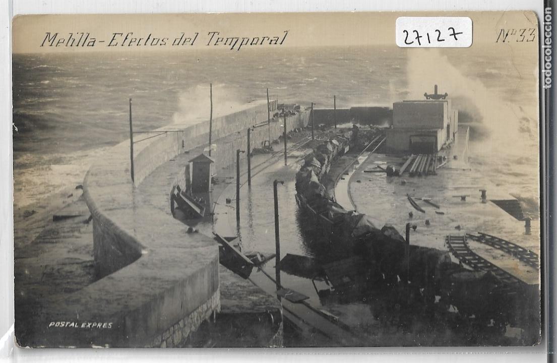 MELILLA - EFECTOS DEL TEMPORAL - P27127 (Postales - España - Melilla Antigua (hasta 1939))