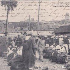 Postales: MELILLA - MERCADO MORUNO. Lote 194650436
