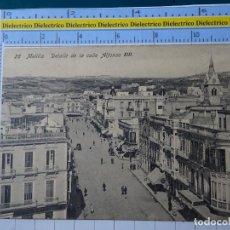 Postales: POSTAL DE MELILLA. AÑOS 10 30. DETALLE DE LA CALLE ALFONSO XIII 28 BOIX. 104. Lote 195243851