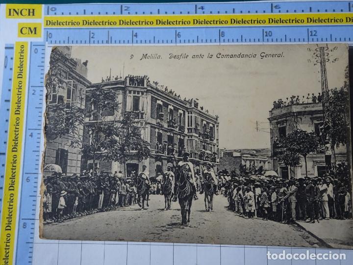 POSTAL DE MELILLA. AÑOS 10 30. DESFILE MILITAR ANTE LA COMANDANCIA GENERAL 9 BOIX. 111 (Postales - España - Melilla Antigua (hasta 1939))
