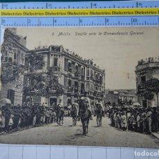Postales: POSTAL DE MELILLA. AÑOS 10 30. DESFILE MILITAR ANTE LA COMANDANCIA GENERAL 9 BOIX. 111. Lote 195244110