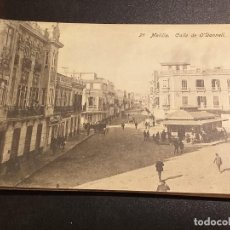Postales: POSTAL DE MELILLA. EDICION BOIX HERMANOS. SIN CIRCULAR. CALLE DE ODONELL. Lote 195522356