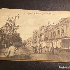 Postales: POSTAL DE MELILLA. EDICION BOIX HERMANOS. SIN CIRCULAR.CALLE DEL GENERAL MARINA.. Lote 195522556