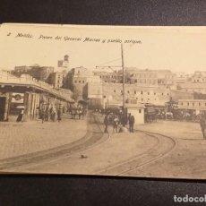 Postales: POSTAL DE MELILLA. EDICION BOIX HERMANOS. SIN CIRCULAR. PASEO DEL GENERAL MACIAS Y PUEBLO ANTIGUO.. Lote 195522717