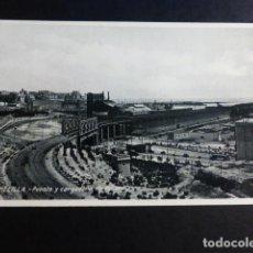 Postales: MELILLA PUENTE Y CARGADERO DE MINERAL. Lote 195690340