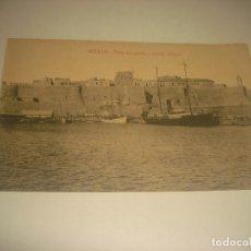 Postales: MELILLA , VISTA DEL PUERTO Y PUEBLO ANTIGUO . ED. BOIX HERMANOS, SIN CIRCULAR.. Lote 196308992