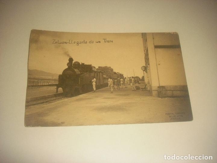 ZELUAN LLEGADA DE UN TREN. ED. BOIX HERMANOS. SIN CIRCULAR (Postales - España - Melilla Antigua (hasta 1939))