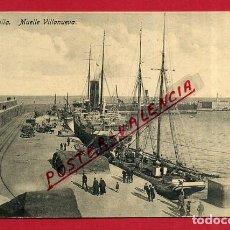 Postales: POSTAL MELILLA MUELLE VILLANUEVA , ORIGINAL P89194. Lote 198127933