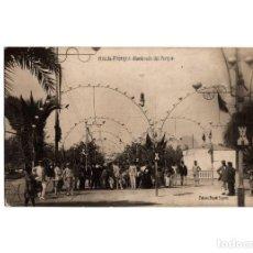 Postales: MELILLA.- FESTEJOS. ALUMBRADO DEL PARQUE. POSTAL FOTOGRÁFICA.. Lote 198192121