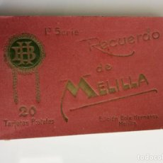 Postales: MELILLA, POSTALES, 1ª SERIE, EDC. BOIX HERMANOS, LIBRERIA POSTAL MODERNO, EN BLANCO Y NEGRO. Lote 198590145