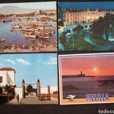 Postales: MELILLA, LOTE DE 4 POSTALES. Lote 199636901