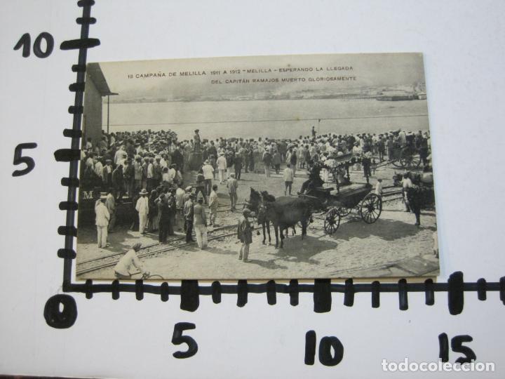 Postales: MELILLA-ESPERANDO LA LLEGADA DEL CAPITAN RAMAJOS MUERTO-ED·RIF-18-POSTAL ANTIGUA-(69.348) - Foto 5 - 202569508