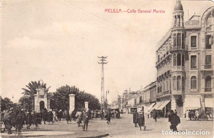 MELILLA CALLE GENERAL MARINA. ED. BOIX HNOS. MELILLA (Postales - España - Melilla Antigua (hasta 1939))