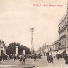 Postales: MELILLA CALLE GENERAL MARINA. ED. BOIX HNOS. MELILLA. Lote 203187872